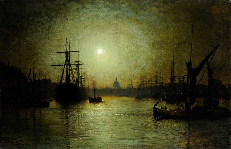 Thames Moonlight by John Atkinson Grimshaw, 1880