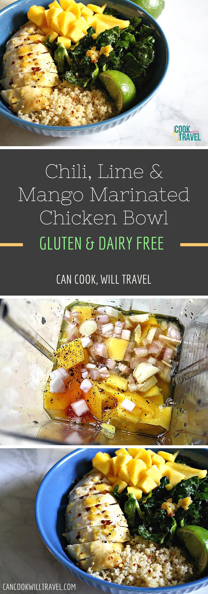 Mango Marinated Chicken Bowl_Collage2