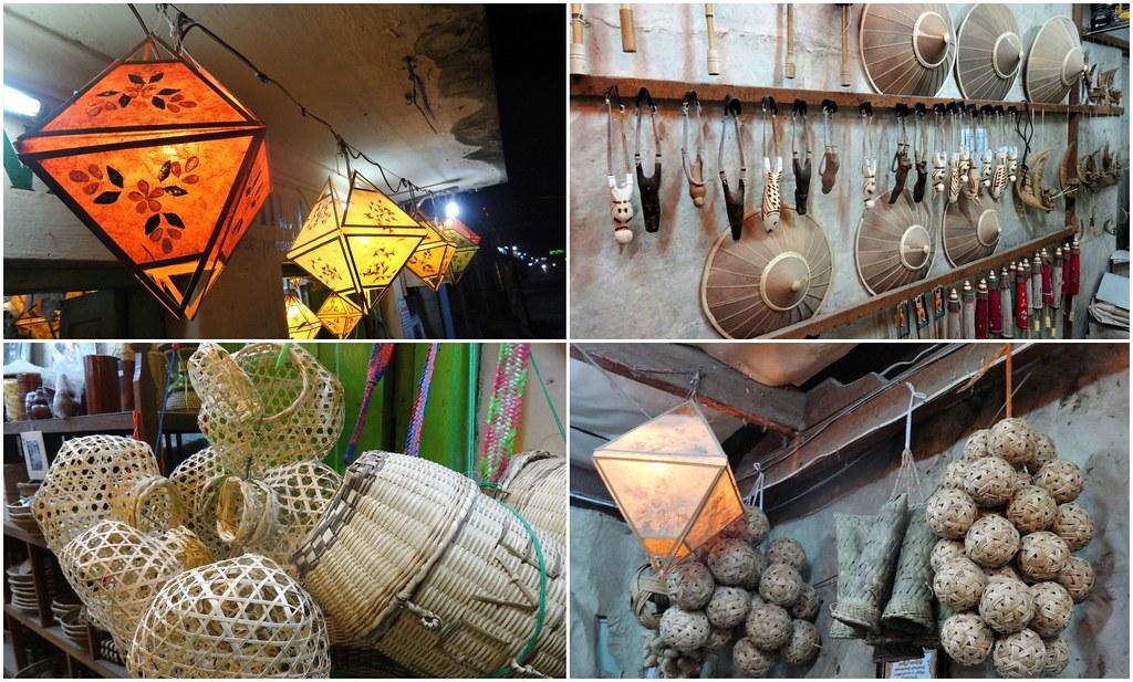 Sklepy z piamiątkami w Nyaung Shwe, Birma
