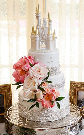 Disney Inspired Wedding Cake by Notey.Com
