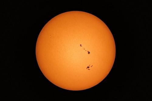 Little black spots on the sun today... 9/5/2017 DSC_1083-1