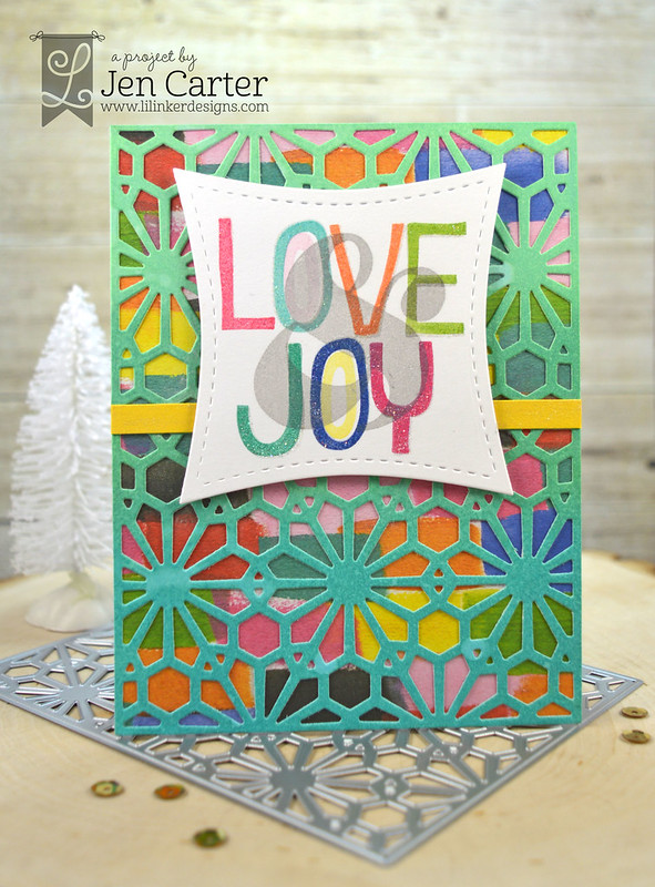 Jen Carter Geometric Snow Peace Love Joy 1 wm