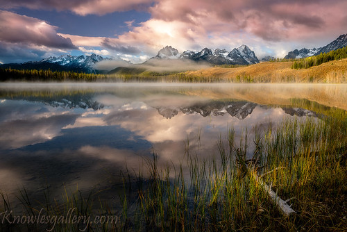 Chuck Knowles - Dramatic sunrise over Little Redfish Lake Idaho