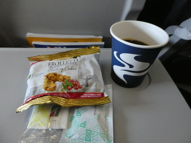 Snack on board Alitalia flight