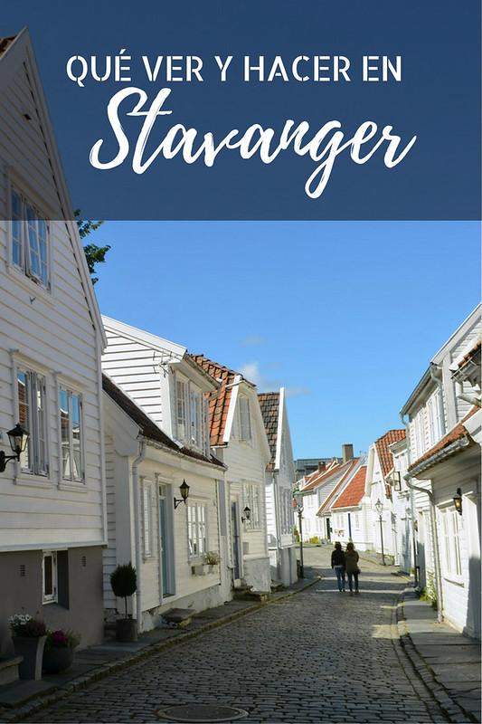 Calle adoquinada del barrio de Gamle, en Stavanger