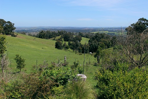 View towards Wallan from South Mountain Road, Clonbinane
