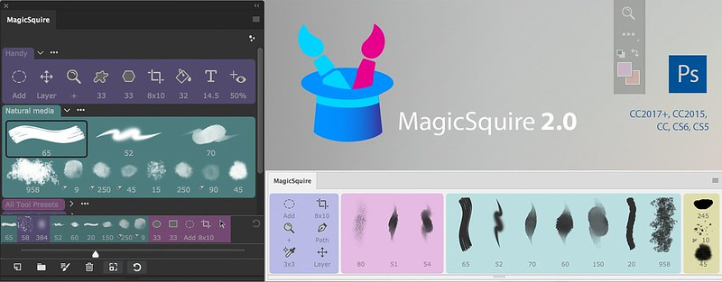New way to manage PS brushes & tools with MagicSquire 2.0