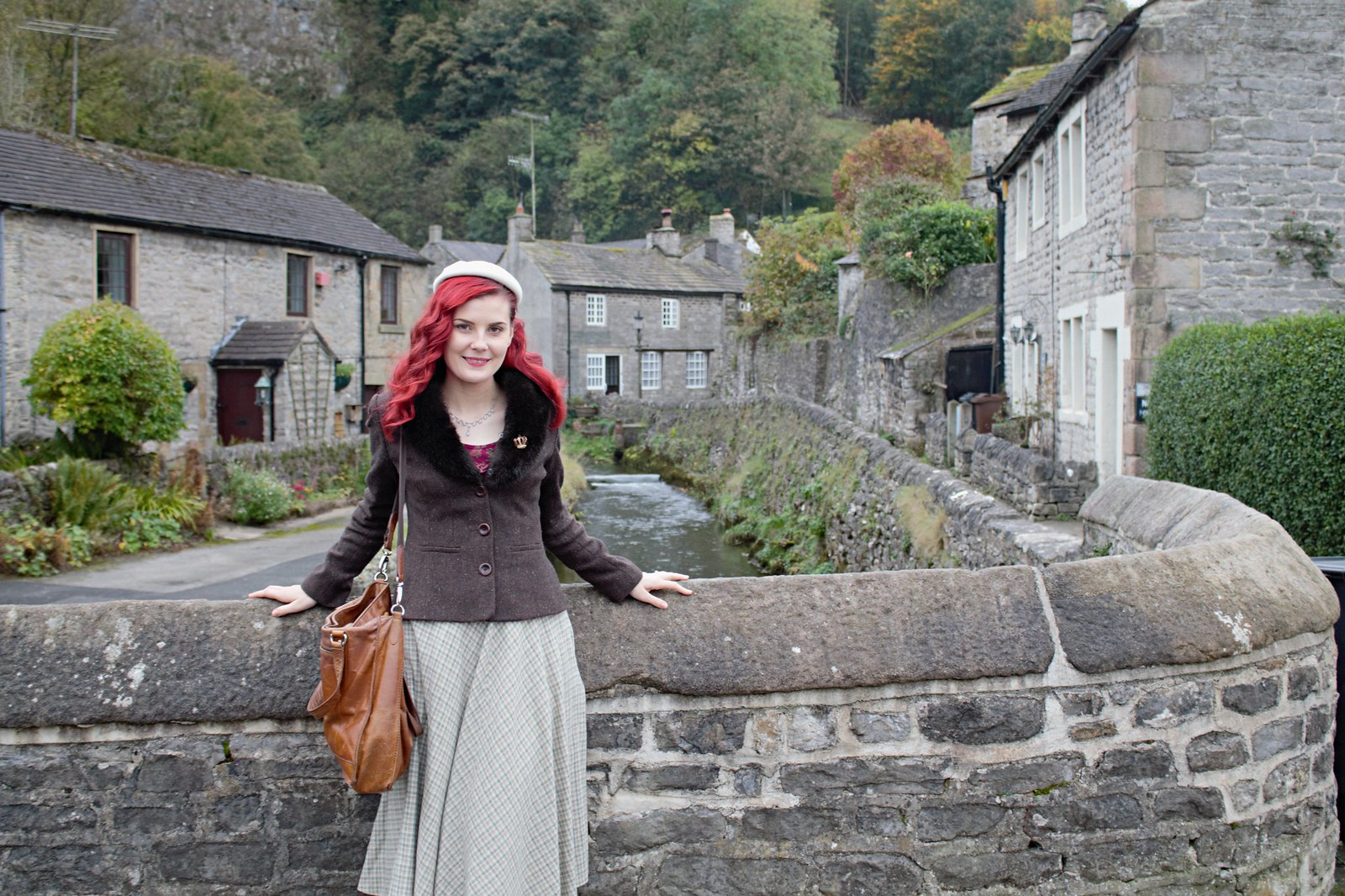 autumn vintage outfit via www.lovebirdsvintage.co.uk