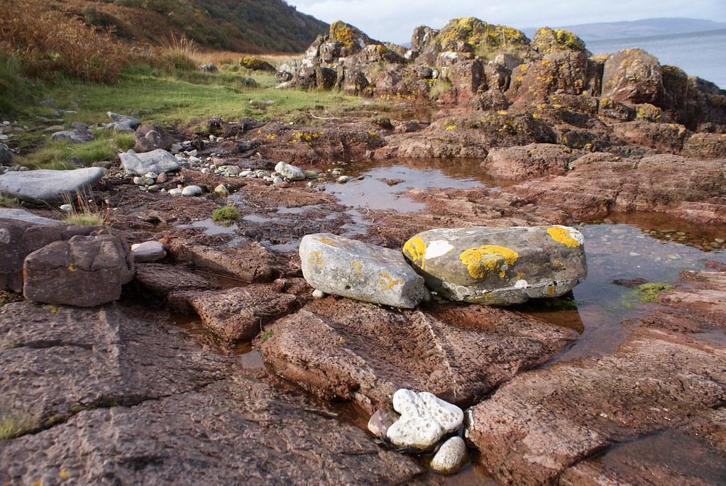 Formation rocheuse de l'île d'Arran.