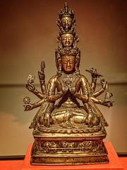 The Bonpo deity Kunsang Galwa Dupa Western Tibet 1300 CE Bronze with silver inlay