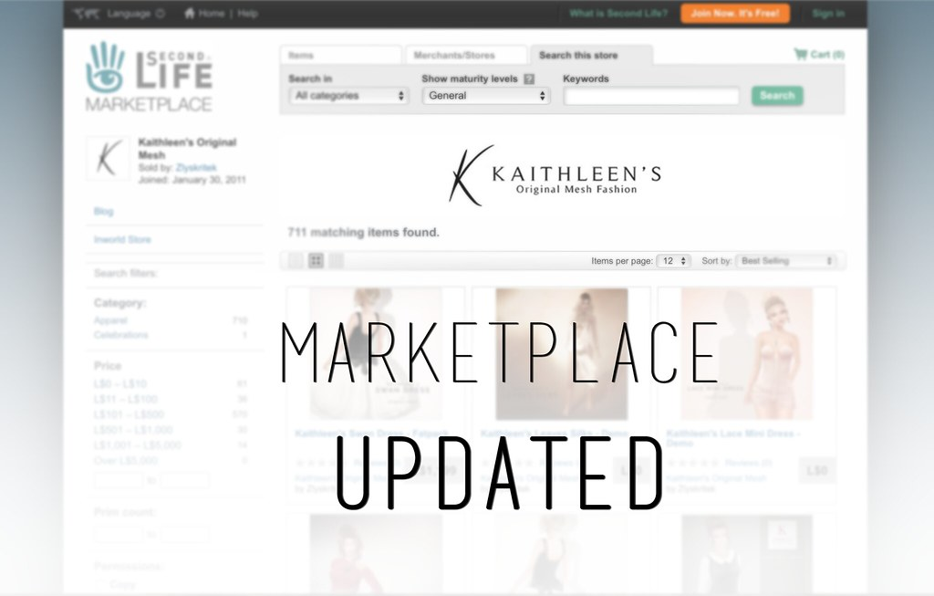 Kaithleen's Marketplace is Updated!