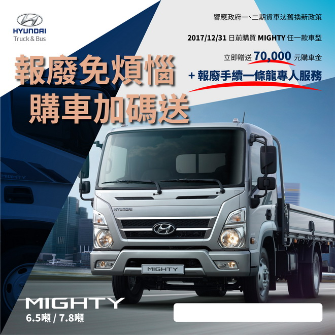HYUNDAI MIGHTY 優惠議題