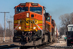BNSF 4504 | GE C44-9W | BNSF Thayer South Subdivision