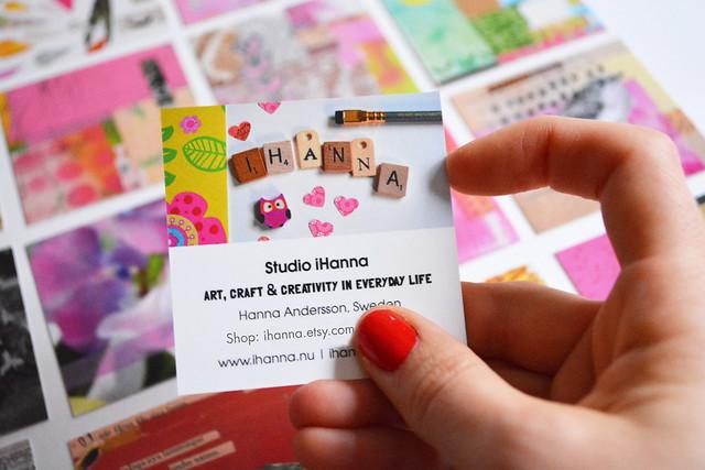Backside of iHanna's Business Card blog post by iHanna