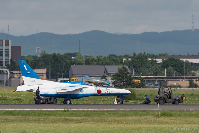 JASDF Chitose AB Airshow 2017 (144) Blue Impluse No.1 stopped by a broken brake