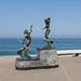 Sculpture On El Malecon por Robert E. Adams