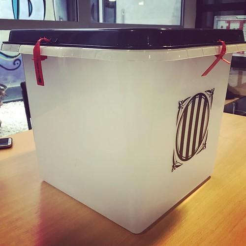 Ja la tenim aquí! #JoVoto #CatalanReferendum #Votarem #CATVotaSí #HolaRepública #Gelida #Penedès