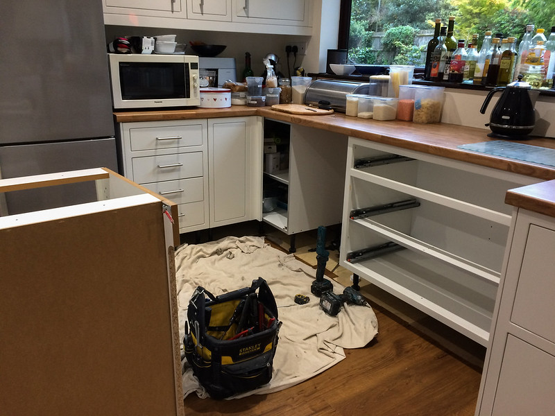 My new kitchen is in pieces!