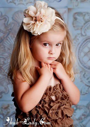 موضة الفساتين المكشكشه للبنات الصغار