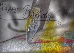 Abstract Birthday with Kalligraph
