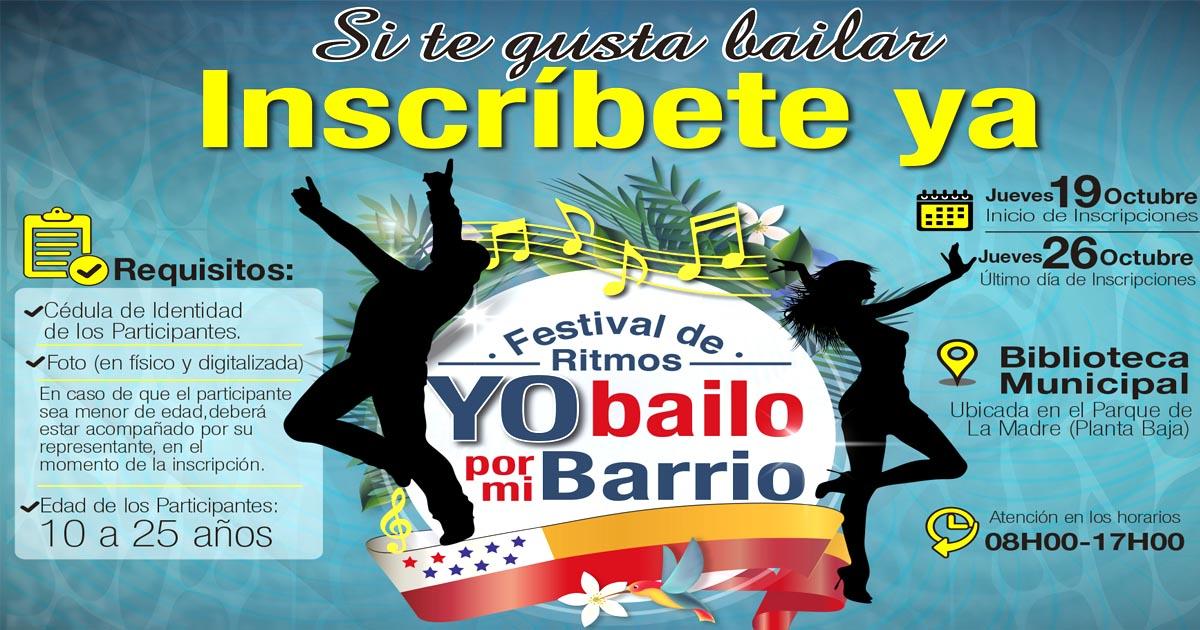 Se realizará festival Yo Bailo por mi Barrio