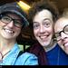 20150815_i7 Me, Matthew Steer, & Catta (Instagram: cattacatarina) by the stage door of Barbican Theatre, where Matthew played Rosencrantz in ''Hamlet'' | London, England