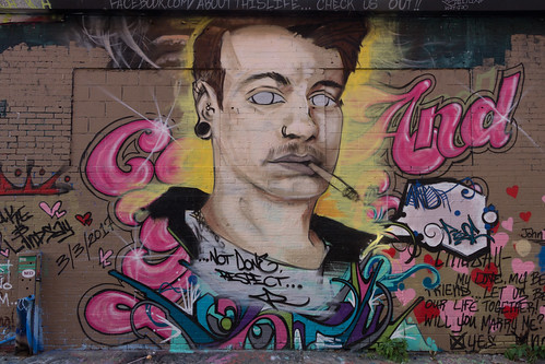 2017 alley artalley man mural painting privpublic smoking words