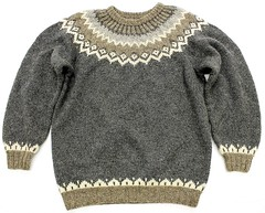 Icelandic fair isle nordic ski sweater