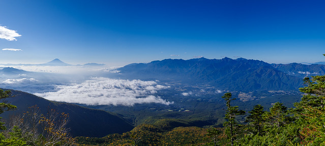 富士と南アルプス・・・パノラマ
