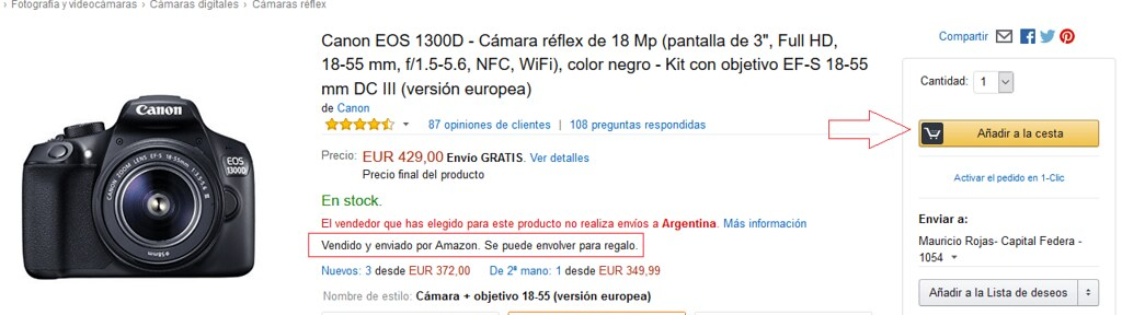 camara de fotos en amazon