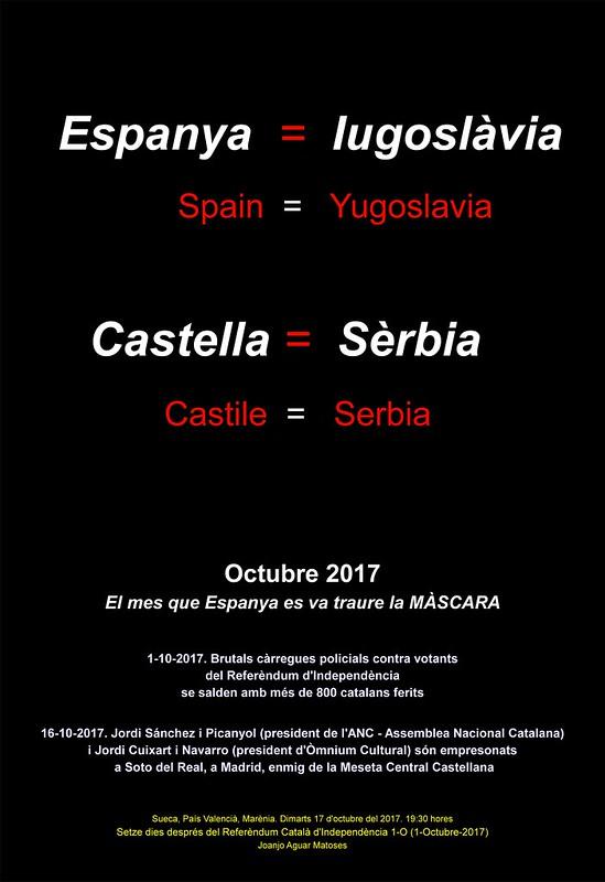 Espanya, Iugoslavia. Castella, Serbia. Referendum 1-O. SENCER (17-10-2017) -IMATGE-PNG