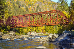 The Red  Bridge in Tumwater Canyon