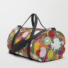the good stuff taupe society6 duffle bag