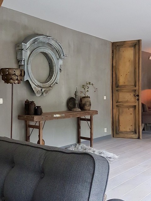 Kalkverf sidetable spiegel