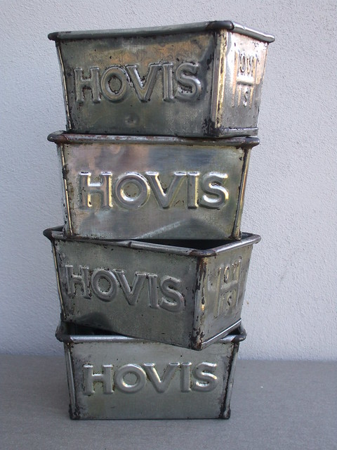 Vintage Hovis Bread Baking Loaf Tins Industrial Looking Kitchenalia
