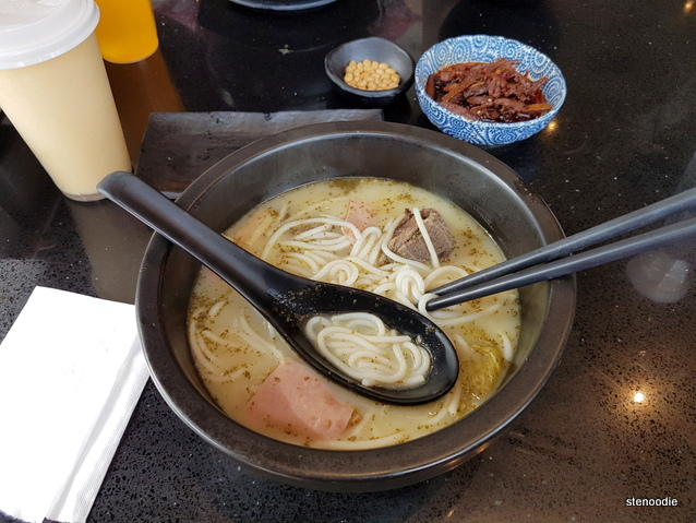 Signature Rice Noodle Soup with Braised Bone-in Pork