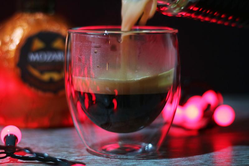 Boozy pumpkin spice latte Halloween