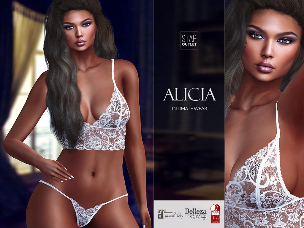 Star Outlet Lingerie Alicia White (Maitreya, Slink, Belleza) - TeleportHub.com Live!