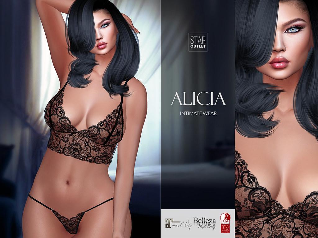Star Outlet Lingerie Alicia Black (Maitreya, Slink, Belleza)