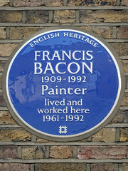 Photo of Francis Bacon blue plaque