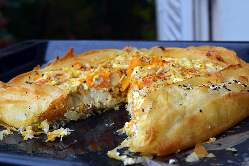 spiced filo pumkin pie1