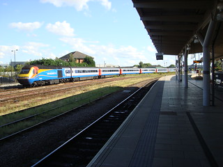 East Midlands Trains Intercity 125 set in the sidings next to Derby station