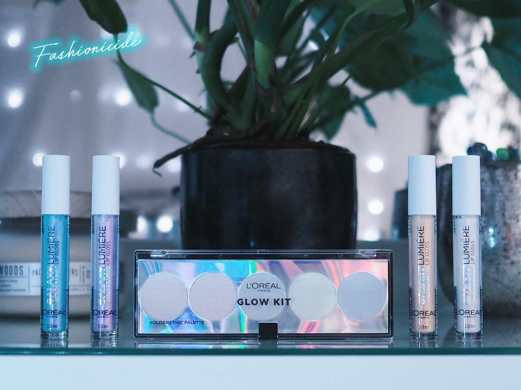 L'Oreal Holographic Collection Galaxy Lumiere Iridescent Lip Glosses Glow Review