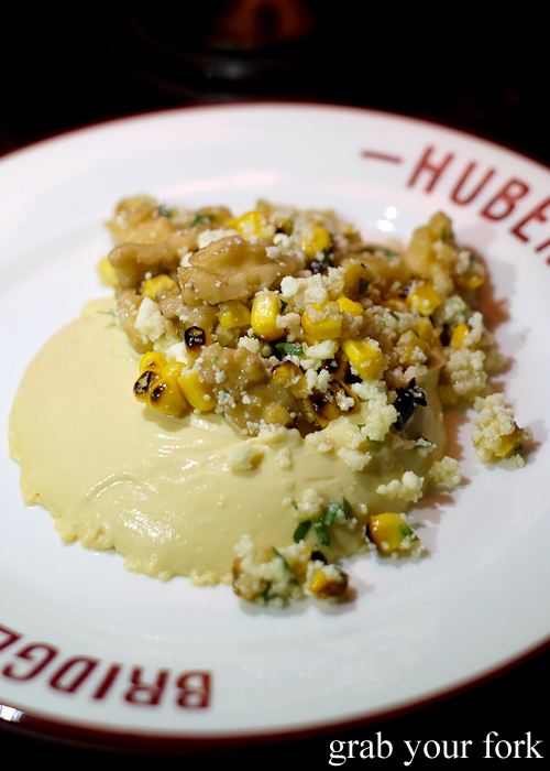 Corn pudding at Bridge Bon Appetit in Restaurant Hubert in Sydney