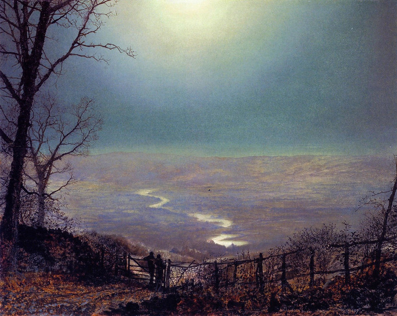Moonlight, Wharfedale by John Atkinson Grimshaw