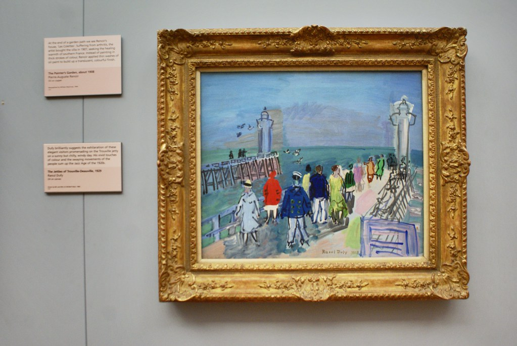 """Peinture de Raoul Dufy """"Trouville""""  au musée Kelvingrove de Glasgow."""