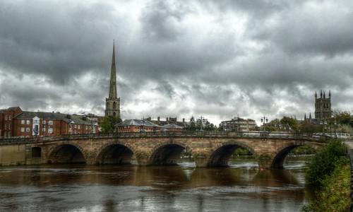 Worcester Bridge over the River Severn