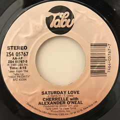CHERRELLE WITH ALEXANDER O'NEAL:SATURDAY LOVE(LABEL SIDE-A)