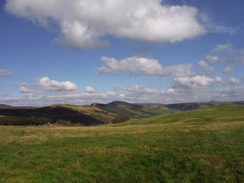 Great Ridge and Win Hill from Winnats Head Farm