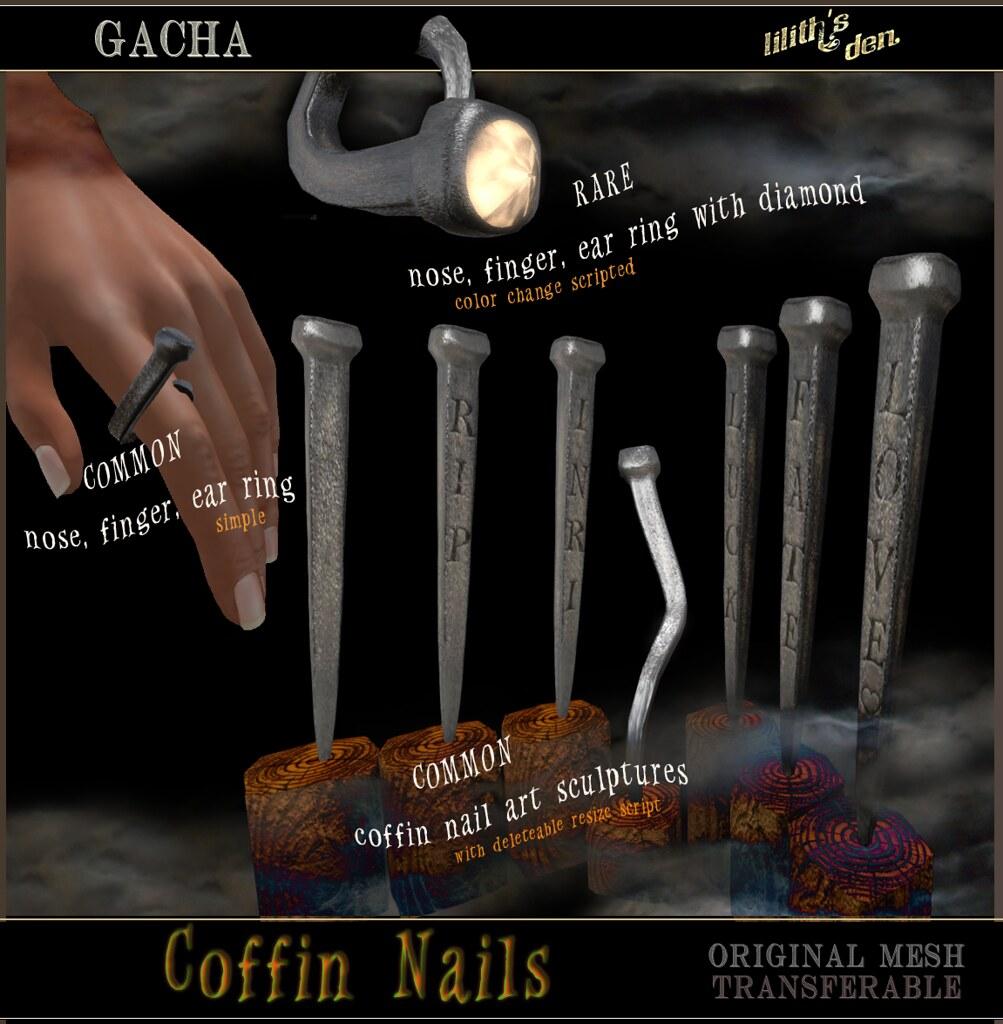 Lilith's Den Coffin Nail Gacha - TeleportHub.com Live!
